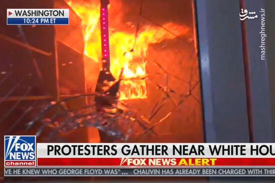 فیلم/ به آتش کشیده شدن کلیسا در واشنگتن