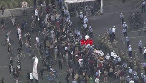 تصویرهوایی از آماده سازی حضور ترامپ در خیابان