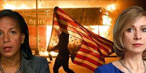 واکنش مسکو به اتهامزنی «سوزان رایس» درباره اعتراضات آمریکا