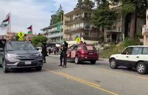 عکس/ پرچم فلسطین در خیابانهای آمریکا