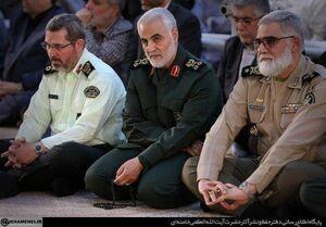 عکس/ شهید سلیمانی در مراسم سالروز رحلت امام