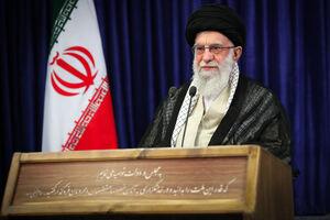 عکس/ نوشته بر روی تریبون سخنرانی امروز رهبرانقلاب