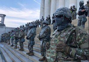 حضور پرتعداد نیروهای امنیتی در واشنگتن