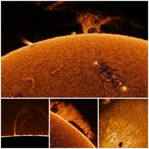 ثبت تصاویری زیبا از خورشید+عکس