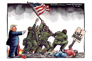 کاریکاتور معنادار مجله انگلیسی+عکس
