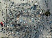 """عکس/ اعتراض به قتل """"جورج فلوید"""" در ساحل"""