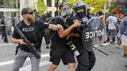 عکس/ شرایط سخت عکاسان در تظاهرات آمریکا