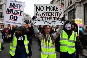 بیبیسی و بیخبری از اعتراضات لندن!+ فیلم
