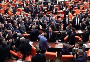 اخراج ۳ نماینده و تنش در پارلمان ترکیه