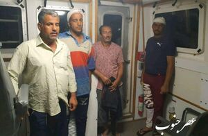 عکس/ افراد نجات یافته شناور بهبهان در عراق