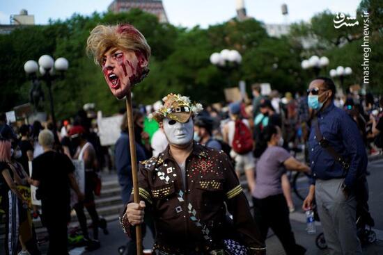 فیلم/ حضور پرشور معترضان در خیابانهای آمریکا