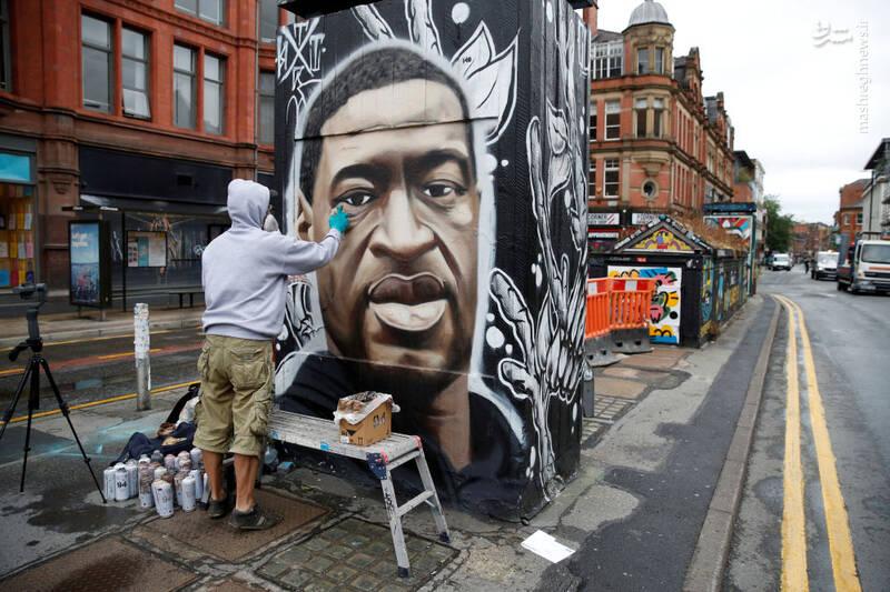 گرافیتی جرج فلوید در بریتانیا