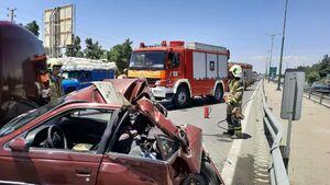 تصادف وحشتناک پژو پارس با کامیونت