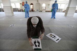 فاصله گذاری اجتماعی در نماز جمعه اردن