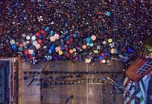 تصویری هوایی متفاوت از تظاهرات آمریکا