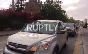 فیلم/ اعتراض خودرویی در خیابانهای اوکلند