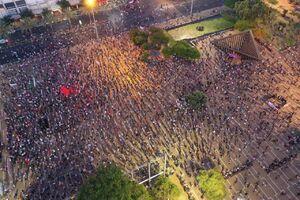 عکس/ تظاهرات علیه طرح اشغال کرانه باختری در تل آویو