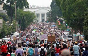 فیلم/ تظاهرات معترضان به قتل جورج فلوید در لس آنجلس