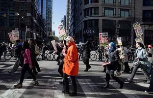فیلم/ موسیقیدانان آمریکایی در جمع معترضان