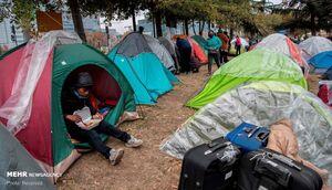عکس/ گرفتار شدن مهاجران در مرز شیلی