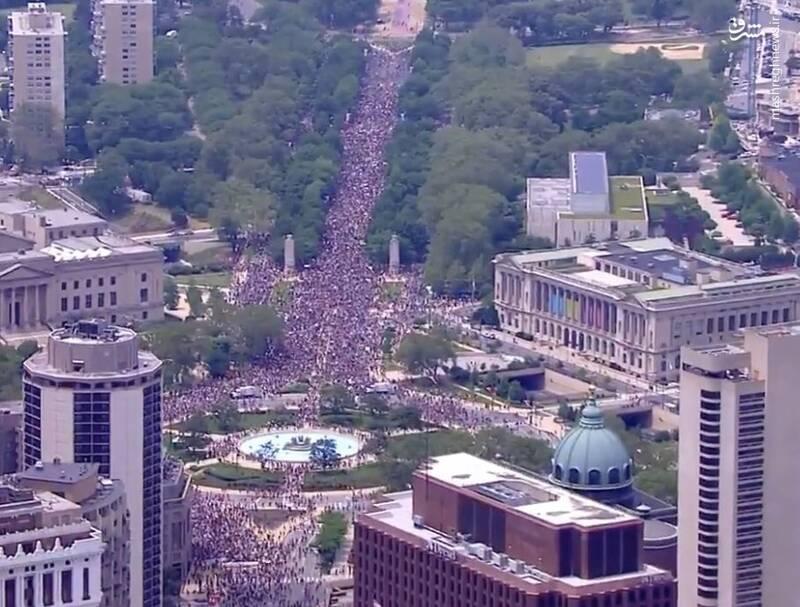 حضور گسترده مردم در اعتراضات نژادپرستی