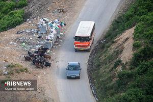 عکس/ زباله؛ سوغات گردشگران به روستای فیلبند