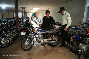 کشف موتور سیکلتهای قاچاق - تهران