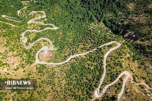 تصویر هوایی زیبا از جاده فیلبند