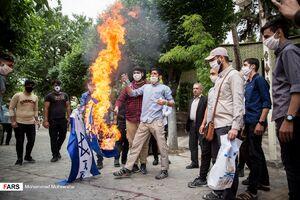 عکس/ تجمع اعتراضی مقابل سفارت ارمنستان