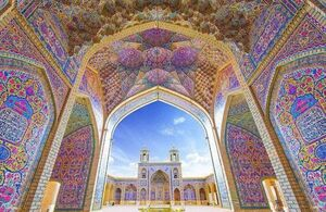 تصویری زیبا از مسجد نصرالملک شیراز