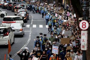 عکس/ تظاهرات ضدنژادپرستی در خیابانهای ژاپن