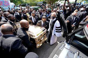 مراسم خاکسپاری جورج فلوید در شهر هوستون آمریکا