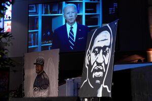 عکس/ سخنرانی «جو بایدن» در مراسم جورج فلوید
