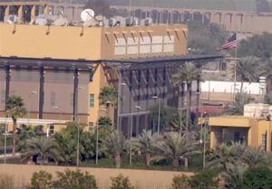 اصابت موشک به پشت سفارت آمریکا در بغداد