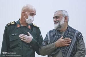 عکس/ مراسم تکریم و معارفه فرمانده دانشگاه امام حسین(ع)