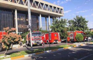 فیلم/جزییات آتشسوزی در ساختمان صدا و سیما