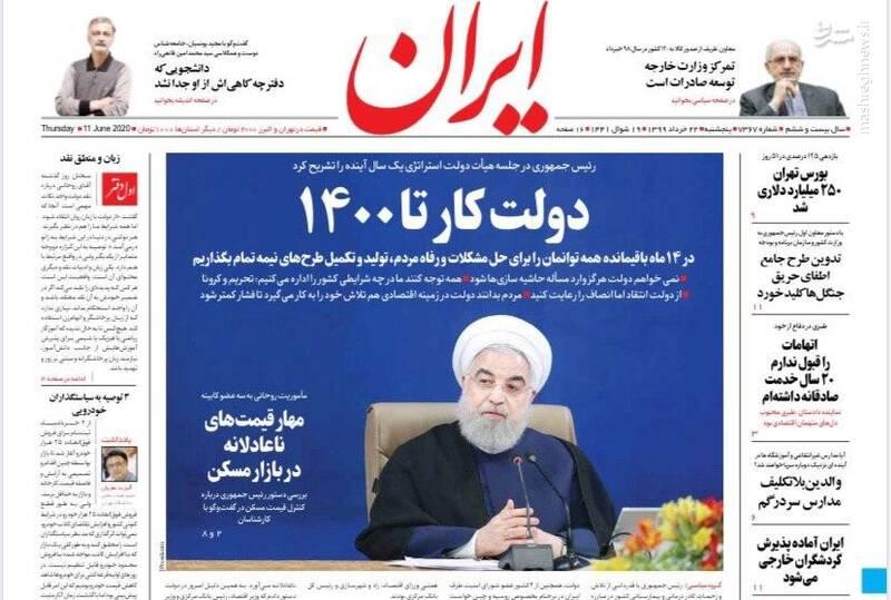 ایران: دولت کار تا ۱۴۰۰