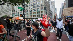 عکس/ خیابانهای نیویورک به رنگ خون