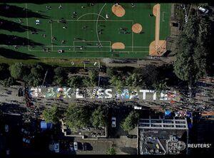 عکس هوایی از منطقه خودمختار در آمریکا
