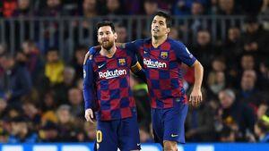 مسی و سوارز در ترکیب اصلی بارسلونا