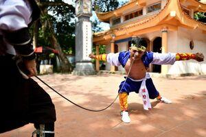 عکس/ قدرت نمایی عجیب رزمی کاران ویتنام