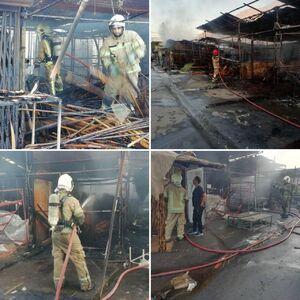 عکس/ آتش سوزی در بازار گل تهران