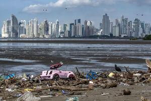 رها کردن زباله در ساحل