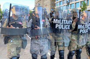 فیلم/ گارد ملی ارتش آمریکا در شهر تولسا