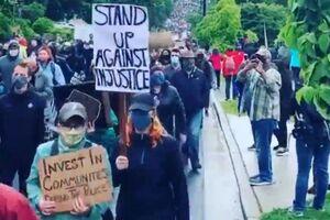 معترضان امریکایی در راهپیمایی سکوت