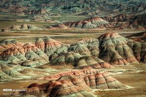 عکس/ تپههای رنگی ماهنشان