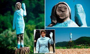 یادی کنیم از مجسمه ملانیا ترامپ در زادگاهش +عکس