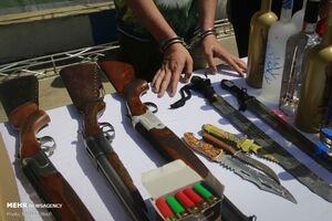 کشف ۱۰۶ قبضه انواع سلاح غیر مجاز در لرستان +فیلم