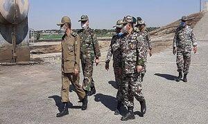بازدید فرمانده کل ارتش از منطقه پدافند هوایی تهران