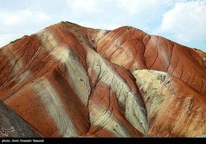 عکس/ کوههای رنگی زنجان